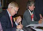 Roy & Gretchen Jackson at Churchill Downs participating in a charity autograph signing on Jan. 29.