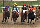 Thor's Echo (far left) makes his move on the way to the win in the De Francis Dash.