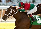 Jeranimo outfinishes Mr. Commons to win the Oak Tree Mile at Santa Anita.