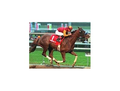 General Challenge, shown here winning the Strub Stakes at Santa Anita, Feb. 5, 2000.