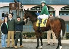 Gaffney Station in the Winner's Circle at Turfway Park.
