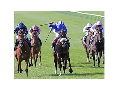 "Lyric of Light (blue silks) gets up late to win the Shadwell Fillies' Mile.<br><a target=""blank"" href=""http://www.bloodhorse.com/horse-racing/photo-store?ref=http%3A%2F%2Fpictopia.com%2Fperl%2Fgal%3Fprovider_id%3D368%26ptp_photo_id%3D9678568%26ref%3Dstory"">Order This Photo</a>"