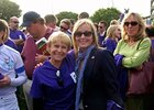 Julie Krone and Bo Derek at the cancer walk.