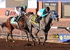 Rapper S S wears down Yonegwa to take the Riley Allison Futurity at Sunland Park.
