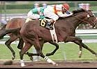 Millennium Wind (6), winning the Santa Catalina Stakes.