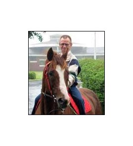 Belmont winners Pat Day and Commendable were reunited this month in Korea.