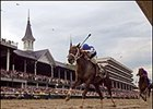 Undefeated Smarty Jones wins the Kentucky Derby!