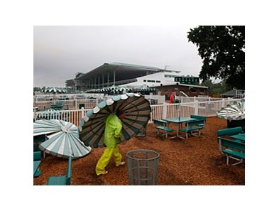 Hurricane Irene preparation at Monmouth Park.