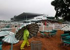 Preparations for Hurricane Irene at Monmouth Park.