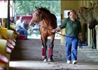 Afleet Alex and trainer Tim Ritchey.
