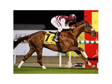 Al Shemali streaks to a surprise win in the Dubai Duty Free.