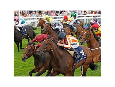 "Ortensia (right) runs down Spirit Quartz to win the Coolmore Nunthorpe Stakes.<br><a target=""blank"" href=""http://photos.bloodhorse.com/AtTheRaces-1/at-the-races-2012/22274956_jFd5jM#!i=2044867909&k=BvzWdSj"">Order This Photo</a>"