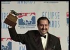 Prince Salman, with Point Given's trophy.