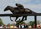 The bronze of Barbaro was unveiled at Churchill Downs April 26.
