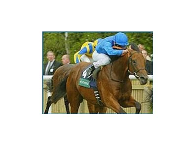 Frankie Dettori rides Dubawi to third win in three starts with this victory in the National Stakes.