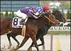 During, red cap, defeats Unforgettable Max, foreground, in the Discovery Handicap.