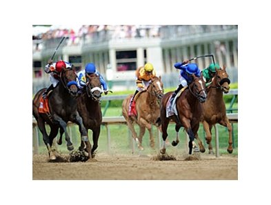 "First Dude (far left) takes the Alysheba over Regal Ransom (blue silks).<br><a target=""blank"" href=""http://www.bloodhorse.com/horse-racing/photo-store?ref=http%3A%2F%2Fpictopia.com%2Fperl%2Fgal%3Fprovider_id%3D368%26ptp_photo_id%3D9516982%26ref%3Dstory"">Order This Photo</a>"