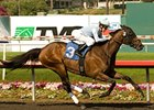 "Ball Four cruises home in the Mervyn LeRoy under Joe Talamo.<br><a target=""blank"" href=""http://www.bloodhorse.com/horse-racing/photo-store?ref=http%3A%2F%2Fpictopia.com%2Fperl%2Fgal%3Fprovider_id%3D368%26ptp_photo_id%3D8086985%26ref%3Dstory"">Order This Photo</a>"