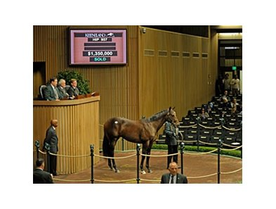 Hip #957; colt, Awesome Again-Legs Lawlor by Unbridled, brought $1.35 million at the Keeneland September yearling sale's fifth session.