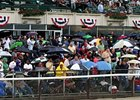 Belmont Attendance, Handle Up Despite Weather