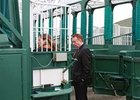 Tommy Thompson of the NTRA at the Churchill Downs safety inspection on April 6.