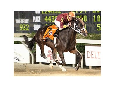 Big Drama cruises to victory in the Delta Jackpot.