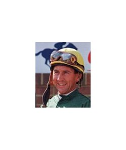 Jockey Jerry Bailey, only jockey with mounts in all eight Breeders' Cup races.