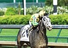 "Promise Me Silver comes home strong in the Eight Belles Stakes.<br><a target=""blank"" href=""http://photos.bloodhorse.com/AtTheRaces-1/At-the-Races-2015/i-HgZBZBP"">Order This Photo</a>"