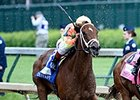 "Dame Dorothy gets the victory in the Humana Distaff Stakes.<br><a target=""blank"" href=""http://photos.bloodhorse.com/AtTheRaces-1/At-the-Races-2015/i-p9LMMJb"">Order This Photo</a>"