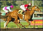 Affluent outruns Sightseek in the Santa Monica Handicap at Santa Anita Park.