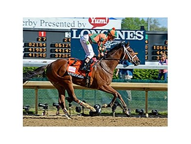 "2015 Kentucky Oaks winner Lovely Maria returns in the Delaware Oaks. <br><a target=""blank"" href=""http://photos.bloodhorse.com/AtTheRaces-1/At-the-Races-2015/i-24F9wKQ"">Order This Photo</a>"
