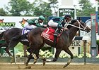 "Cocked and Loaded gets by Paynes Prairie to win the Tremont Stakes.<br><a target=""blank"" href=""http://photos.bloodhorse.com/AtTheRaces-1/At-the-Races-2015/i-Vxpfjtt"">Order This Photo</a>"