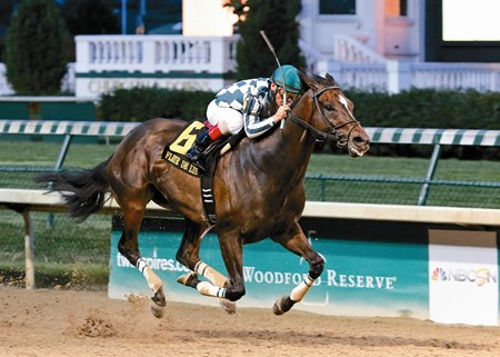 Frivolous edged just past pacesetter Yahilwa on the turn and then pulled away through the stretch to win the $200,000 Fleur de Lis Handicap (gr. II) in a 32-1 upset June 13 at Churchill Downs.