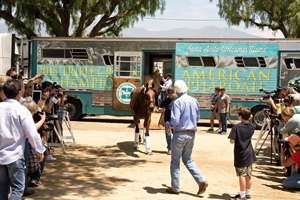 "American Pharoah settled in comfortably after much fanfare following a historic five-week run during which he became the first horse since Affirmed in 1978 to capture the Triple Crown.  A throng of well-wishers were on hand to greet the ""superstar"" and get an ""up close and personal look""  and perhaps take a selfie or two of the most famous horse in the world upon returning to Santa Anita Park."