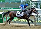Wedding Toast winning the Ogden Phipps Stakes.