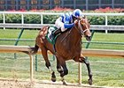 He's Comin in Hot broke his maiden in a five-furlong maiden special weight at Churchill Downs on June 12.