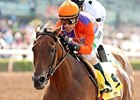 Beholder dominates the Adoration Stakes under Gary Stevens.