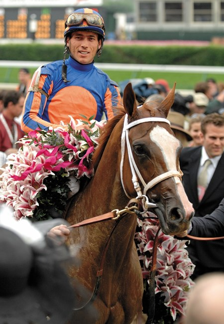 Rags to Riches won five Grade I's in her three year old champion season including the Kentucky Oaks pictured here.