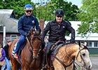 Smokey with American Pharoah at Belmont Park.