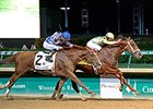"Noble Bird holds off Lea to win the Stephen Foster Handicap.<br><a target=""blank"" href=""http://photos.bloodhorse.com/AtTheRaces-1/At-the-Races-2015/i-vjW532M"">Order This Photo</a>"