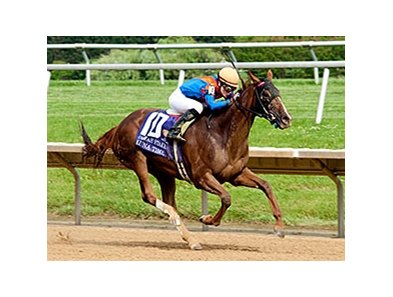 Luna Time upsets the Obeah Stakes at Delaware Park.