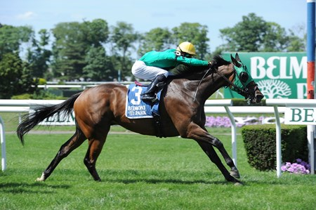 Gerald and Susan Kreesa's King Kreesa stole away on the front end June 13 to take the $300,000 Poker Stakes (gr. IIIT) at Belmont Park, becoming just the third two-time winner of a race he also won in 2013.