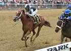 "Curalina gets up late to win the Acorn Stakes.<br><a target=""blank"" href=""http://photos.bloodhorse.com/AtTheRaces-1/At-the-Races-2015/i-RJsrDpr"">Order This Photo</a>"