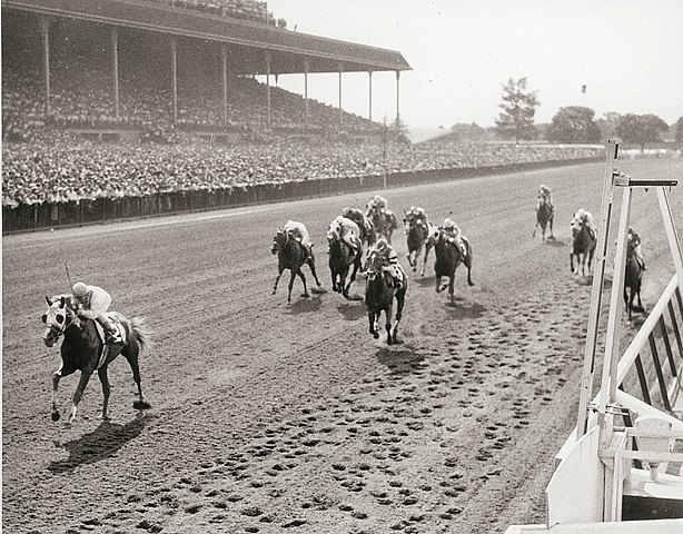 Sword Dancer wins the 1959 Metropolitian Handicap.