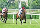 "Treve comes home strong to win the Prix Corrida.<br><a target=""blank"" href=""http://photos.bloodhorse.com/AtTheRaces-1/At-the-Races-2015/i-8cpDRJR"">Order This Photo</a>"