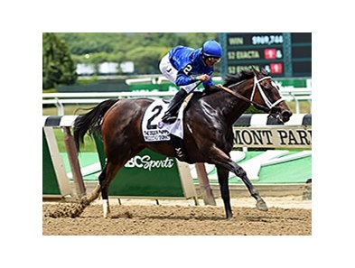 Wedding Toast dominates the Ogden Phipps Stakes.