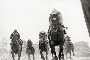 Arts and Letters winning the 1969 Belmont Stakes.