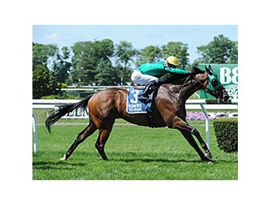 "King Kreesa leads the way to victory in the Poker Stakes.<br><a target=""blank"" href=""http://photos.bloodhorse.com/AtTheRaces-1/At-the-Races-2015/i-kQrsgDD"">Order This Photo</a>"