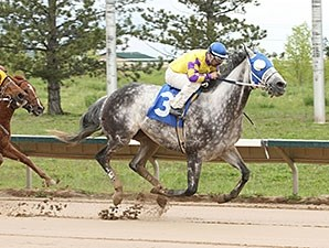 Wally Van wins the Arapahoe Park Sprint.