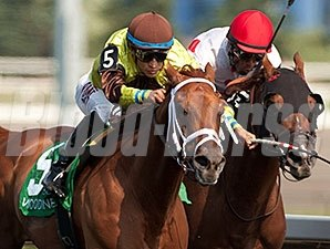 Red Rifle wins the 2015 Dominion Day Stakes.